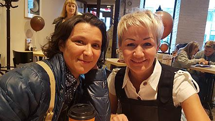Олеся Железняк со Светланой Шулятьевой